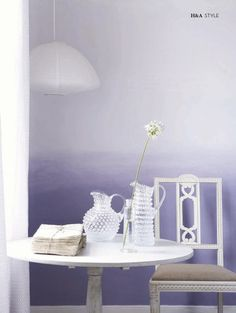Ombre wall purple