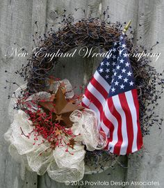 Simply Beautiful!  Patriotic Wreath, American Flag Wreath, Americana, 4th of July