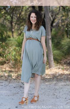 Tutorial // The two seam dress (maternity or not!)