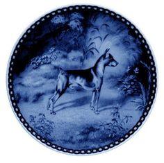 Danish Blue Plate - Miniature Pinscher I by Scan-Lekven Design
