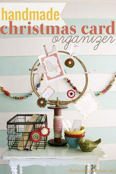 #DIY #Christmas Card Organizer by The Handmade Home on iheartnaptime.net
