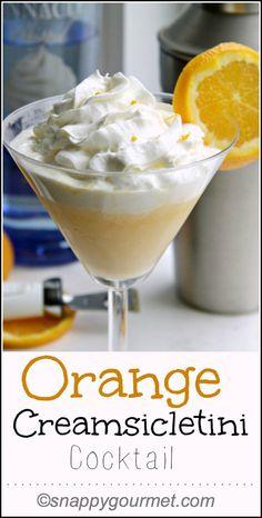 Orange Creamsicletini Cocktail Recipe   snappygourmet.com cocktail recipes