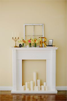 hand crafted fireplace mantel..