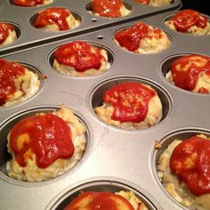 Approximately 110 calories each! Low-cal Mini Turkey Meatloaves With Chipotle Glaze, via @WaspyRedhead... Healthy dinner recipe