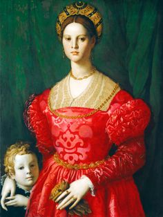A Young Woman and Her Little Boy, ca. 1540, Italian, artist Agnolo di Cosimo (Bronzino 1503-1572), National Gallery of Art 1942.9.6