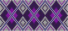 Wicked Artsy: Bead loom patterns: Purple diamonds and green squares  #heartbeadwork #loombeading