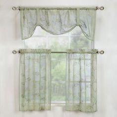 Corsica Window Curtain Tiers - BedBathandBeyond.com