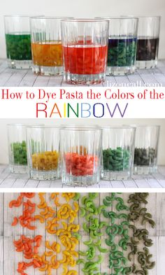 How to dye pasta dy pasta, how to dye pasta, kids diy, dying pasta, diy crafts, kid games, rainbow pasta