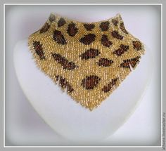 Leopard patterned fringe