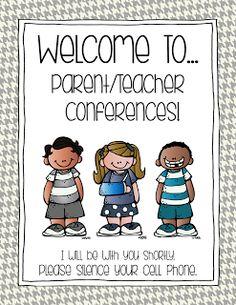 PARENT/TEACHER CONFERENCE PREP   FREEBIE