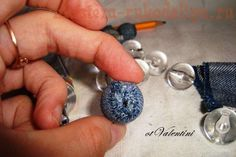 diy home decor, tutorials, jean bead, recycl jean, diy collect, beads, homes, diy jeans denim jewelry