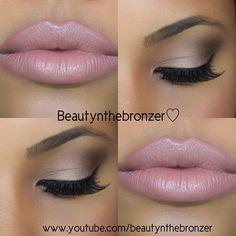 Bronze Smokey Eye + Soft Pink Lip
