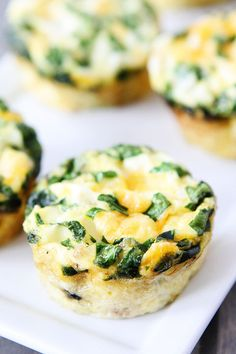 Easy Egg Muffins with Sausage, Spinach, and Cheese on twopeasandtheirpod.com