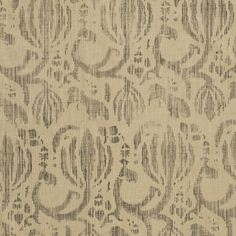 Fleurette in Charcoal on Wheat from Rose Tarlow Melrose House #textiles #fabric #hemp #floral #neutral #brown