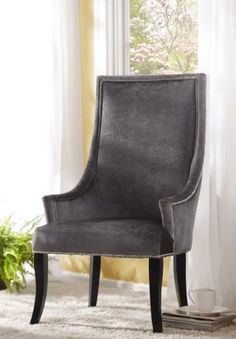 The Gray Velvet Chatham Arm Chair is the perfect corner chair #kirklands #sleepinstyle! #armchair