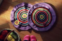 Evolution Of My Crochet Pouf – Part 3 (Photography Project 365 – Day 72) crochet pouf, pouf floor, floor cushion