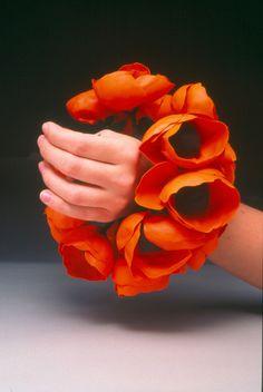 Floral bracelet. Poppies via megan auman on flickr #flowers #fashion #fiberart