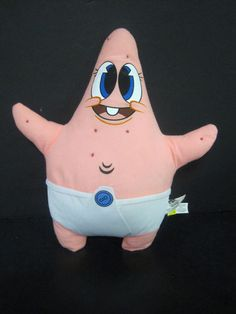 Nanco Spongebob Squarepants Patrick Starr Plush Toy 14 inch 2008