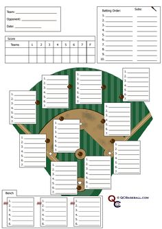 Print these baseball or softball line-up cards for your next game ...