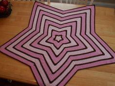 fun star, star blanket, crochet blanket, chrochet blanket, star crochet