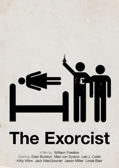 pictogram movie poster : The Exorcist