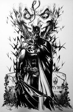 Batman/Joker by Gabriele Dell'Otto