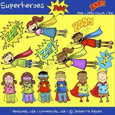 Superhero Clip Art product from Jasons-Online-Classroom on TeachersNotebook.com