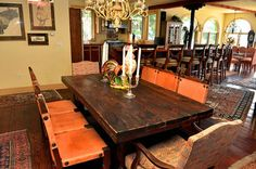 House of the Week: Dining room table and chair set from Owasco Lake Mediterranean style house