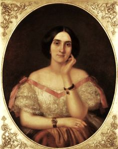 François Bernard (French-born Louisiana painter, 1812–a 1880) Delphine Odile Fleitas - Madame Alcee Villere civil war era fashion