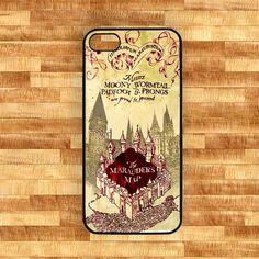 Mrauder's Map of Harry Potter Iphone 5 caseBlack by NadiyaHomemade, $16.00