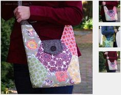 "Hexie Hipster Bag – PDF Sewing Pattern |  ""You Hexie Thing"" Hexagon Ruler 