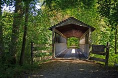 This is the Black River Covered Bridge located on the Kal Haven Trail in South Haven, Michigan