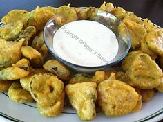 Crispy Fried Pickled Dills - Lovefoodies hanging out! Tease your taste buds!