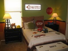 Cars & trucks! such a cute little boys room!