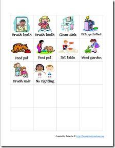 Great chore chart for preschoolers