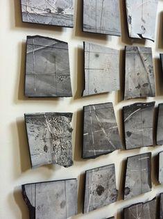 "Margaret Boozer, ""Black Pacific"" (detail), 2011, Black stoneware and porcelain."