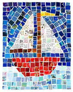 chicken nuggets, lemons, vans, mosaics, bovenbouw knutselen, mozaïek, mosaic projects, magazines, knutselideeën