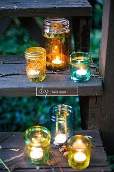 DIY: tinted votives