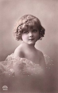 vintage antique photo baby girl post card