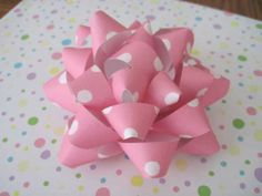 Paper Bow Tutorial ~ Make your own bows from scrapbook paper!