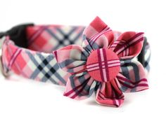 Dog Collar Flower Set....The Betty Draper...Inspired by Mad Men....Made to Order in Your Choice of Size. $31.95, via Etsy.