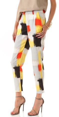 I like these pants!! #PopOfColor