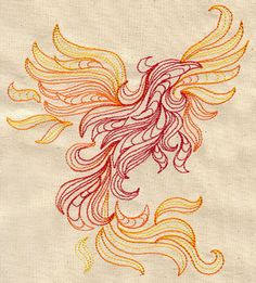 Phoenix in Flames | Urban Threads: Unique and Awesome Embroidery Designs