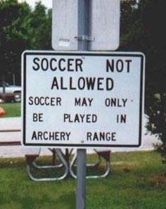 only in the archery range...