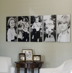 I love the arrangement of the pictures on the wall