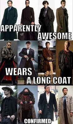 I've already decided that as a wedding gift, I'm giving my husband a long coat and suspenders as a hint.