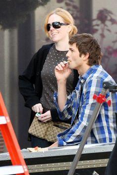 ashton kutcher smoking cigarette