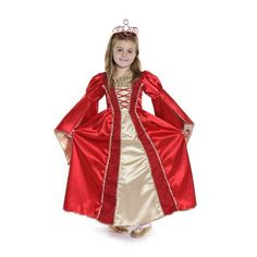 Deluxe Royal Red Renaissance Gown - a princess dress fit for a queen! #princess #dressup #costume