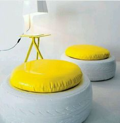 #Upcycling Using Tyres as seats