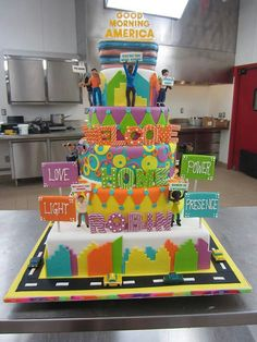 """LOVE, LIGHT, POWER, PRESENCE """"Be present in the moment"""" (Cake Boss, Cake for Robin Roberts from GMA)"""